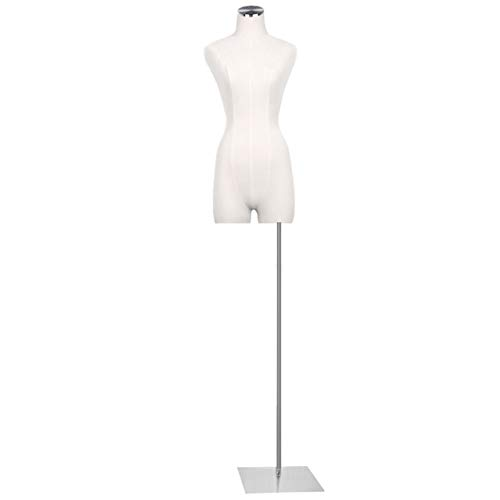 Maniquí De Costura Busto Maniquies Mujer Altura Ajustable con Base Estable Adecuado For Ropa Joyas Soporte De Exhibición (Color : Square)