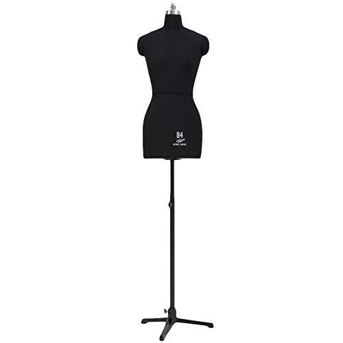 Maniqui Costura Mujer Modista Hembra Ajustable Maniquí Forma del Vestido para Coser Espuma de Poliestireno para Fijar, Torso de Cuerpo de Maniquí con Soporte Tri-Pod
