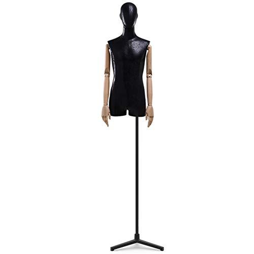 Maniquí De Costura Busto Masculino Torso Cuerpo Brazo Flexible con Base De Trípode Negro Adecuado For Ropa para Hombres De Exhibición (Color : C)