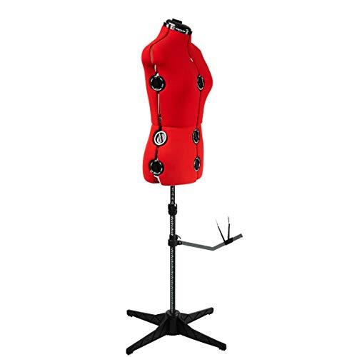 Maniqui Costura Ajustable Rojo 8-Partes | Pequeño (S) [Talla EUR 36 a 44]