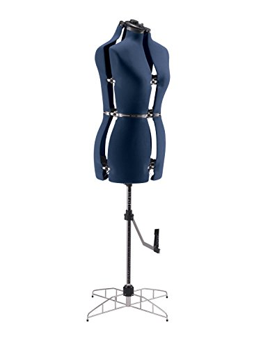 Singer DF250, Maniquí de costura ajustable Torso coser, Azul, S/M (talla 38-44)