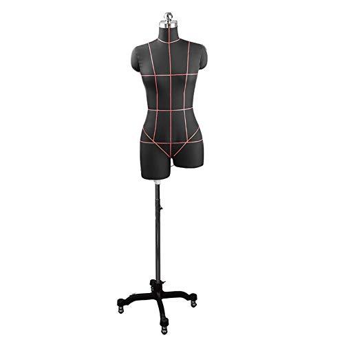 TQJ Maniquies para Costura Sastres maniquí maniquí de Tienda de Ropa Modelo maniquíes con Metales Ventana Base Estante de exhibición Maniquies Escaparate (Color : Black, Size : 92)