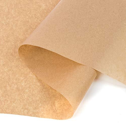 Papel seda kraft, papel fino para envolver, patrones de costura, marrón 100 hojas, 28x62 cm, 24 g/m²