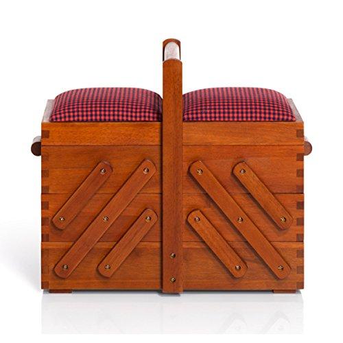 Prym - Costurero de madera, color marrón, talla M