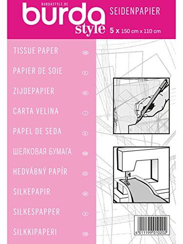 Burda 2Gtis | Papel de Seda para modistas | 110 x 150 cm, Rosa, talla única