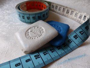 herramientas de costura - tiza o jaboncillo de sastre
